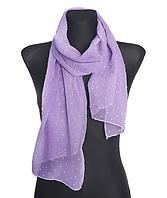 Шифоновый шарф Лейла однотонный 160*50 см сиреневый