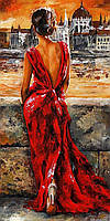 Картина для рисования Турбо Итальянка в красном худ Имре Тот (VP512) 40 х 50 см
