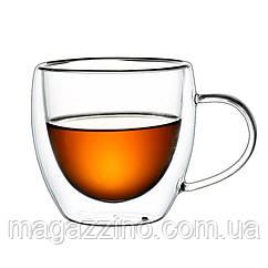 """Скляні чашки з подвійними стінками, """"ConBrio"""", 2шт., 90мл."""