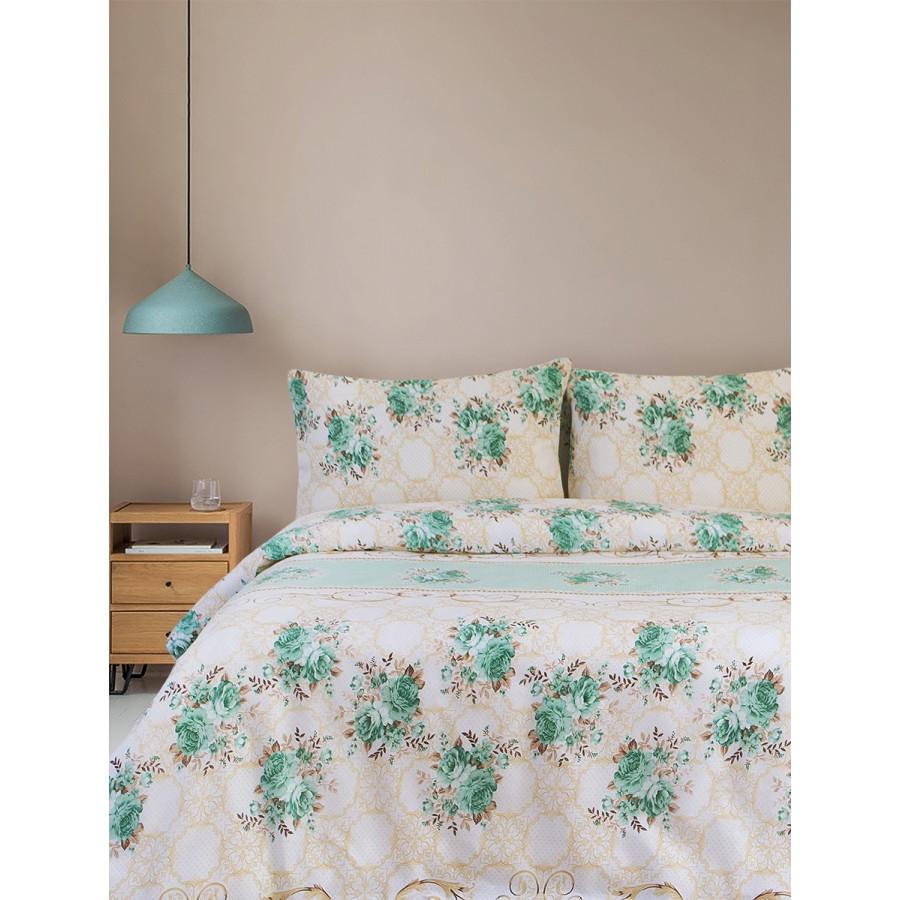 Постельное белье Lotus Ranforce - Tracery зеленый семейное