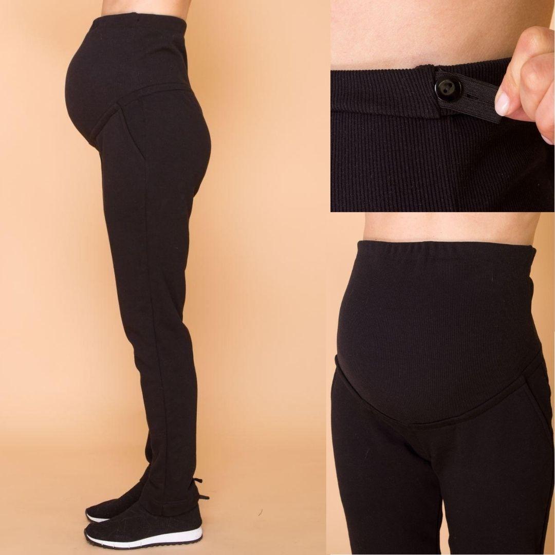 Прогулянкові чорні штани для вагітних
