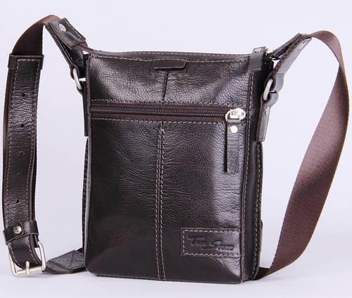 Мужская кожаная сумка через плечо Tom Stone 502BR коричневый