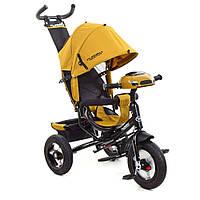 Велосипед TURBOTRIKE, колясочный, USB/BT, свет, тормоз, подшипники, горчичный, M3115HA-24