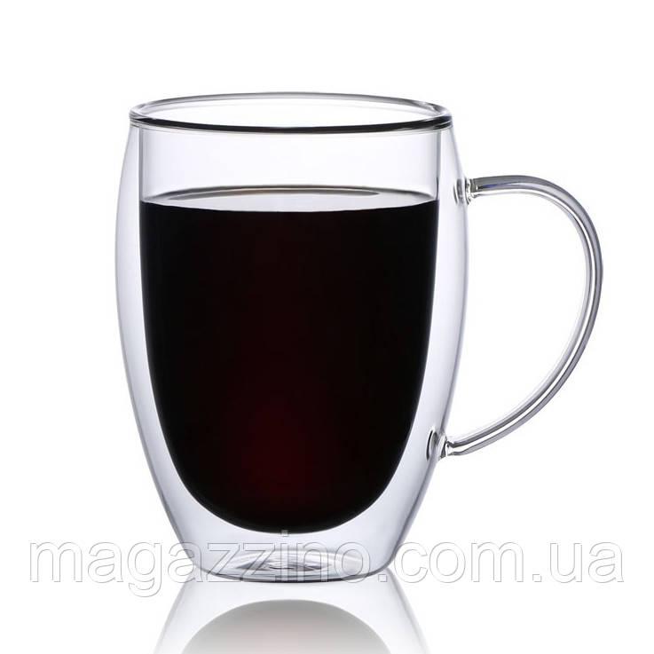 """Скляні чашки з подвійними стінками, """"ConBrio"""", 2шт., 350мл."""