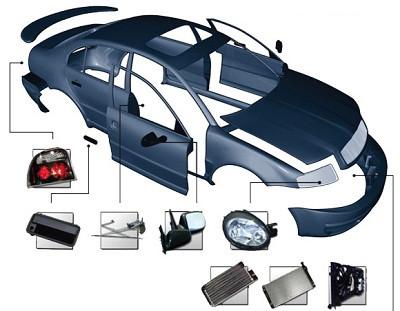 Кузов, кронштейны и крепежные элементы Byd F3