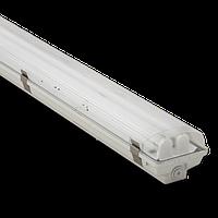 Вологозахищений люмінесцентний світильник Atom-771 ЛПП 2x36W IP67 з ЕПРА і металевими пряжками