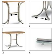 Опора для стола Rozana black (Новый Стиль ТМ), фото 2