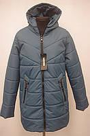 Стьобаний демесезонная жіноча куртка Великих розмірів 50р-56р, фото 1