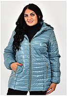 Гарна куртка осінь-весна на жінок великі розміри 54-70, фото 1