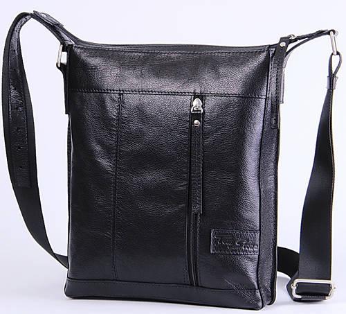 Мужская кожаная сумка через плечо Tom Stone 503B черный