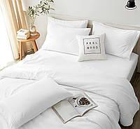 Полуторный комплект постельного белья «Чистота» (белый, однотонный, из бязи Gold)