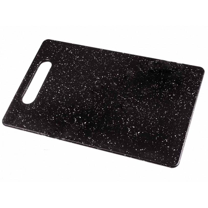 Доска разделочная 25 х 15 х 0,5 см пластиковая черный мрамор KULI