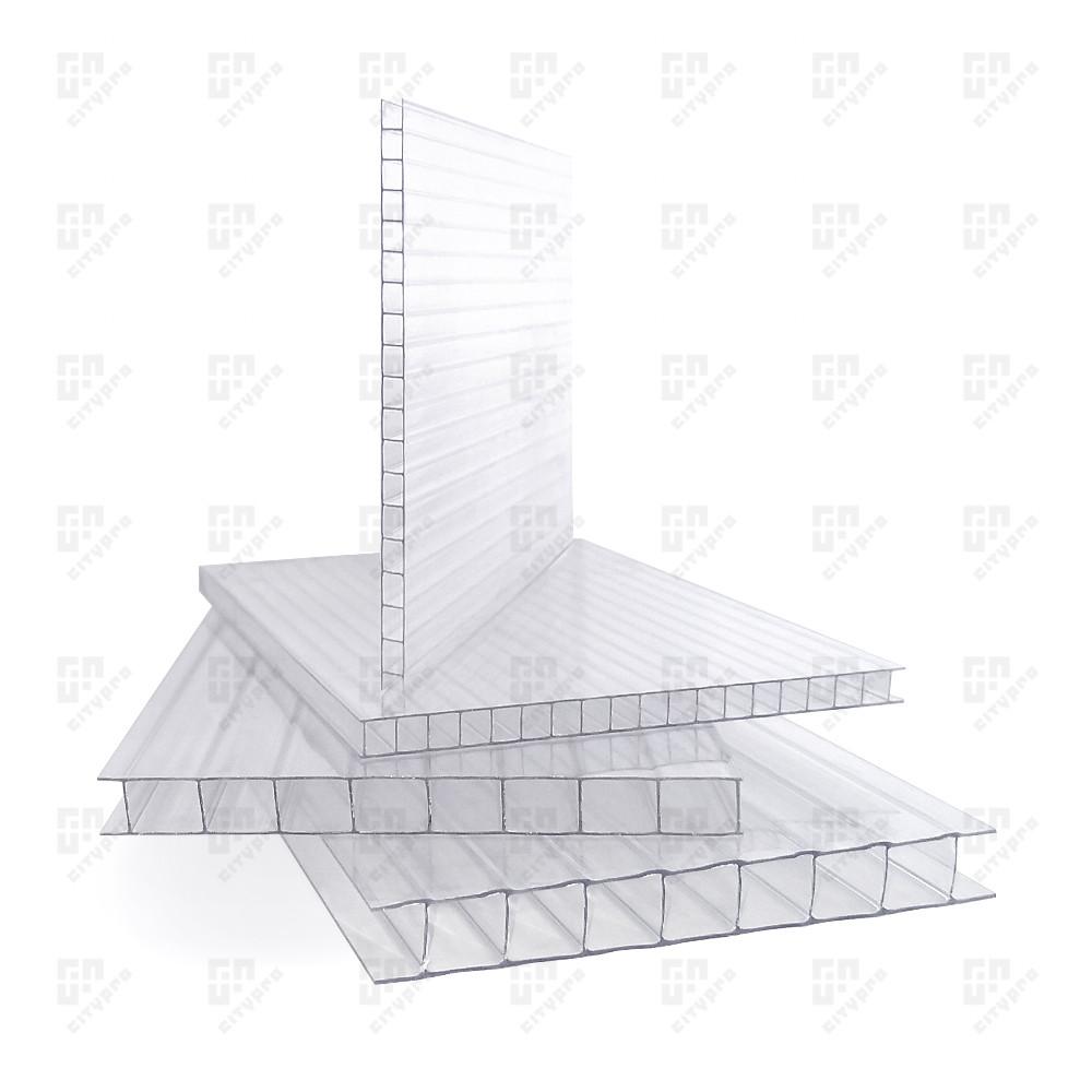 Cотовый поликарбонат Soton Eco, прозрачный 78%, лист 2.1 х 12 м, 10 мм