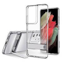 Чехол ESR для Samsung Galaxy S21 Ultra Air Shield Boost (Metal Kickstand), Clear (3C01202170201)