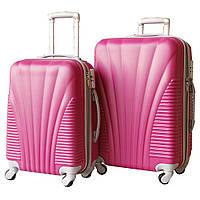 Пластиковый удобный чемодан на колёсиках двойка ручная кладь, 510415