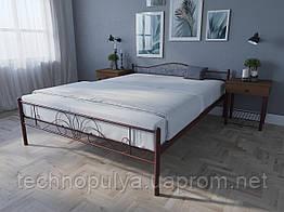 Кровать MELBI Лара Люкс Двуспальная 140х190 см Бордовый лак