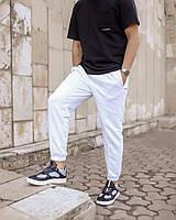 Мужские трикотажные спортивные штаны белые