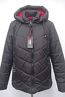 Стьобаний демесезонная жіноча куртка Великих розмірів 48р-54р