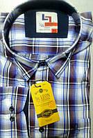 Турецкая  рубашка в клетку PALMEN (размер  4XL. 5XL)