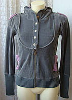 Кофта женская спортивная бархатистая капюшон бренд Copone р.42 4498, фото 1