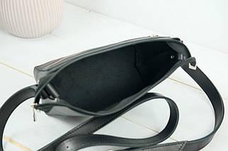 Сумочка Літо Шкіра Італійський краст колір Чорний, фото 3