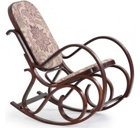 Кресло-качалка, дерево орех, HALMAR MAX 2, фото 2