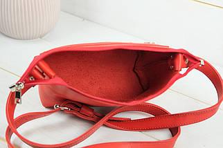 Сумочка Літо Шкіра Італійський краст колір Червоний, фото 3