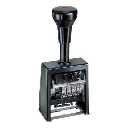 Нумератор автоматический 4,5ММ, 8-ми разрядный, шрифт-antigue, REINER B6K/8, фото 2
