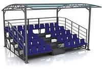 Трибуни на стадион 42 места, 5 ярусов с навесом