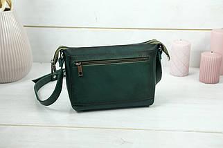 Сумка женская. Кожаная сумочка Лето Кожа Итальянский краст цвет Зеленый, фото 2