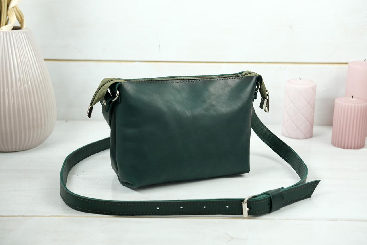 Сумка женская. Кожаная сумочка Лето Кожа Итальянский краст цвет Зеленый