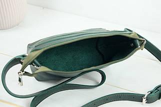 Сумка женская. Кожаная сумочка Лето Кожа Итальянский краст цвет Зеленый, фото 3