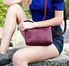 Сумочка Літо, шкіра Grand, колір Бордо, фото 2