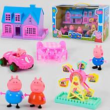 Розкладний будиночок Свинки Пеппы з героями і машиною