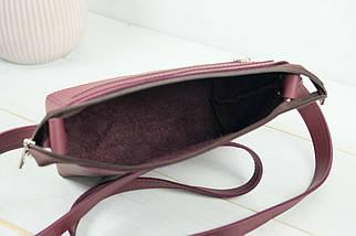 Сумка женская, Кожаная сумочка Лето Кожа, кожа Grand, цвет  Бордо, фото 3