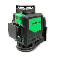 Рівень лазерний нівелір 3x360° (H360/2xV360, зелений промінь) PROTESTER LL412G
