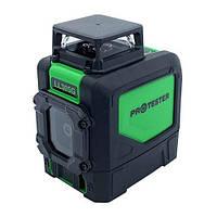 Построитель плоскостей лазерный H360°/1V, (зеленый луч) PROTESTER LL305G, фото 1