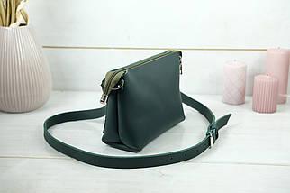 Женская кожаная сумка Лето, натуральная кожа Grand, цвет Зеленый, фото 3