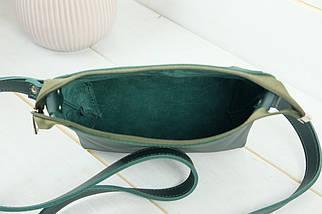 Сумочка Літо, шкіра Grand, колір Зелений, фото 3