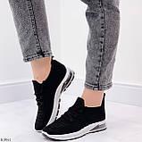Кросівки жіночі чорні текстиль весна-літо-осінь, фото 3