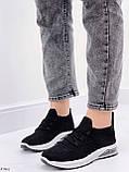 Кросівки жіночі чорні текстиль весна-літо-осінь, фото 5