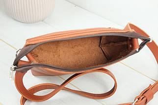 Сумочка Літо, шкіра Grand, колір Коньяк, фото 3