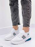 Стильні жіночі кросівки білі текстиль, фото 3