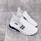 Стильні жіночі кросівки білі текстиль, фото 2