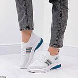 Стильні жіночі кросівки білі текстиль, фото 6