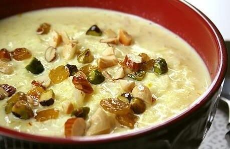 Кхир - рецепт сладкого рисового пудинга