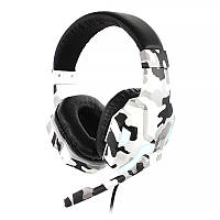 Проводная гарнитура-наушники с микрофоном SOYTO SY830MV Camouflage Grey (1358-16364)