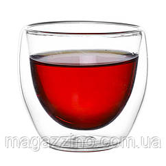 """Скляні стакани з подвійними стінками, """"ConBrio"""", 2шт., 90мл."""