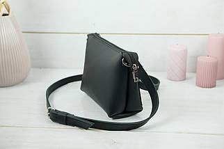 Сумка женская, Кожаная сумочка Лето Кожа, кожа Grand, цвет Черный, фото 3