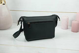 Женская кожаная сумка Лето, натуральная кожа Grand, цветт Черный, фото 3